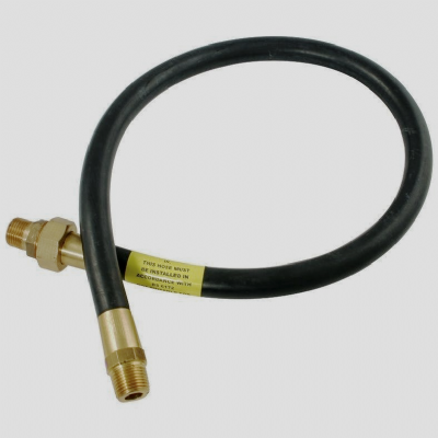 Gas Cooker Hose 1/2 inch Male Iron Union Type - 4 foot